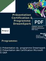 Présentation Certification & Programme DreamSpark de Microsoft