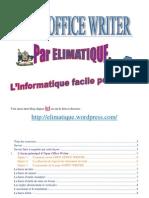 Elimatique Open Office Writer Niveau 1