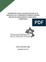 Sugerencias para Plan de Comunicación 2011 - Ordenamiento Territorial (Lambayeque)