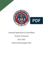 Colorado Division of Housing 2011-2012 Public Housing Agency Plan