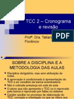 TCC 2 u2013 Cronograma e revisu00E3o turmas A e B