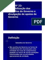 NCRF 22- SUBSIDIOS GOVERNO