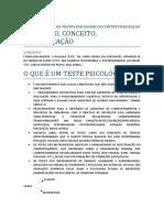 Conceito - Seminário Medidas e Avaliação Psicológica 1