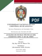 ANALISIS DE FICHAS TECNICAS UNSCH