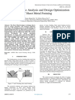 Explicit Dynamic Analysis and Design Optimization of Sheet Metal Forming