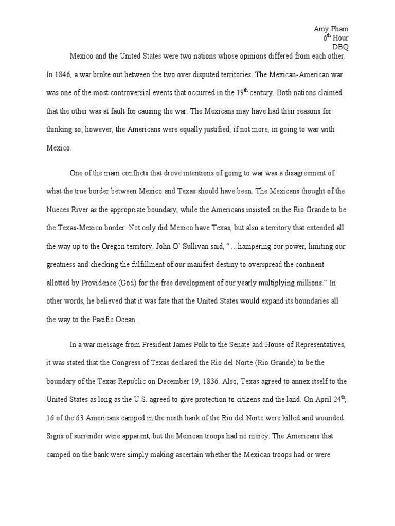 Mexican American War Essay ~ Syeswanndvrnet  Mexican American War Essay