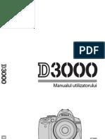 Manual de utilizare Nikon D3000
