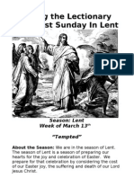 Living the Lectionary - First Sunday in Lent