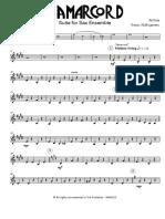 Rota N. - Amarcord - Suite - Sax Ensemble - Baritone Sax 2