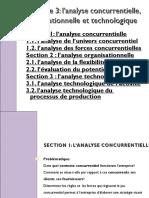 Chapitre 3 - l'analyse concurrentielle, organisationnelle et technologique