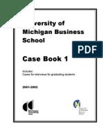 2001-2002 Michigan Ross Case Book