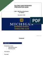 2005-2006 Michigan Ross CC Case Interview Preparation Guide