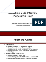 2006 Stanford Consulting Case Interview Preparation