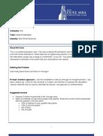 2008 Duke Fuqua MBA CC Cases