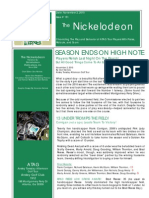 Nickelodeon Newsletter 2010-11-02 - Season Finale - Final Issue of the Nickelodeon