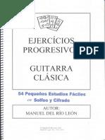 54 Ejercicios Progresivos Guitarra Clasica