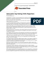03-08-08 AP-Advocates Say Ruling Chills Reporters JOHN DUNBA