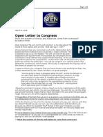 03-08-08 OEN-Open Letter to Congress by Kathryn Smith