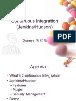 Continuous Integration (Jenkins/Hudson)