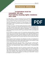 03-10-08 Louisiana Weekly-US Racial Discrimination Must Be r