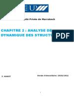 Analyse Dynamique des structures (1)
