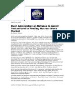 03-10-08 OEN-Bush Administration Refuses to Assist Switzerla