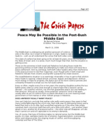 03-11-08 CrisisPapers-Peace May Be Possible in the Post-Bush