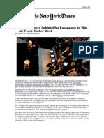 03-12-08 NYT-McCain Advisers Lobbied for Europeans to Win Ai