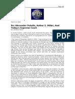 03-12-08 OEN-Re_Alexander Pekelis, Arthur S Miller, And Toda