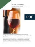 Los beneficios del vino tinto