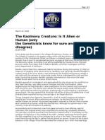 03-16-08 OEN-The Kaolinovy Creature_Is It Alien or Human (On