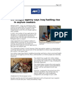 03-18-08 AFP-UN Refugee Agency Says Iraq Fuelling Rise in As