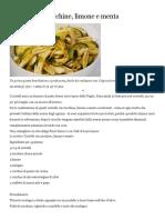 Cicatelli con zucchine