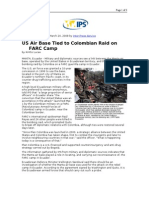 03-24-08 IPS-US Air Base Tied to Colombian Raid on FARC Camp