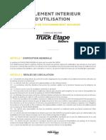 Truck Etape Beziers Reglement Interieur