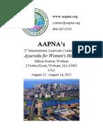 AAPNA Conference 2011 Program Guide