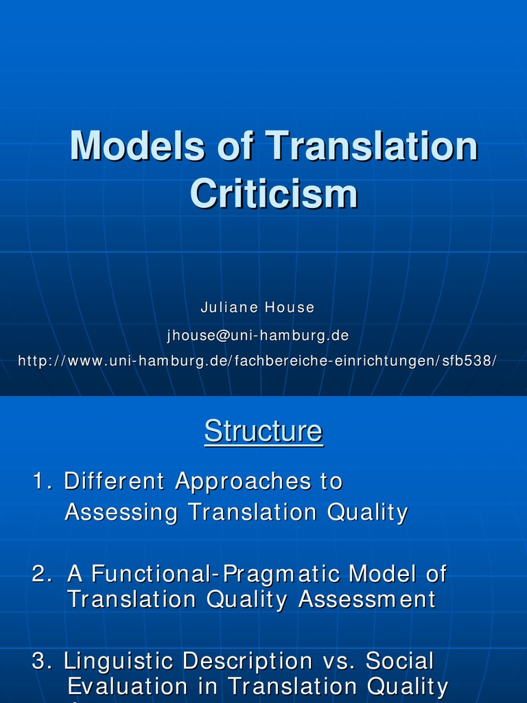 models of translation criticismcriticism | translations | hiv