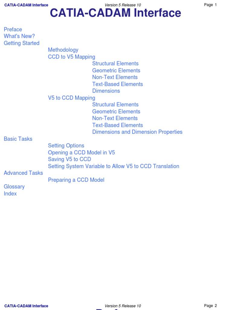 CATIA-CADAM Interface | Technical Drawing | Character Encoding