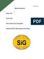 Resumen De La Historia De La Cartografia