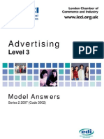 Advertising Model Answer Series 2 2007