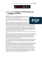 02-06-08 RawStory-Bush 'Kills' Freedom of Information Act Co