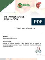 instrumentos de evaluacion Submodulo Operar el sistema operativo
