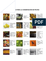 Conservacion de frutas