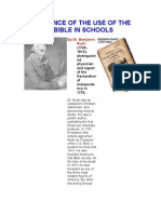 A DEFENCE OF THE USE OF THE BIBLE IN SCHOOLS