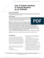 Awareness of Islamic banking products among Muslims The case of Australia