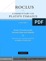 Commentary on Plato's Timaeus, Book 1 - Proclus