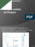 Marcadores quimioestratigraficos. Isotopos estables de oxigeno.