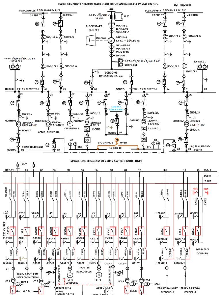 Single line diagram 220kv switchyard ccuart Images