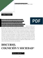 Discurso cognicion y sociedad