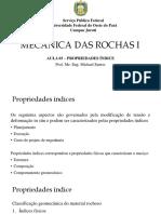 03 - Prop. Índice Mecânica Das Rochas i